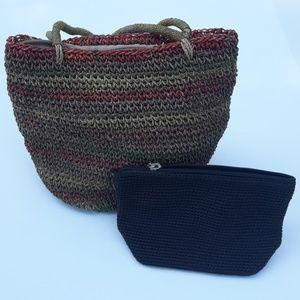 The Sak Small Bag and a Colorful Woven Bag